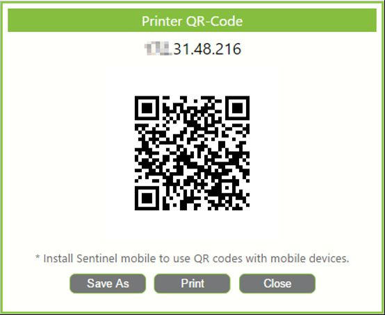 QR code for printer