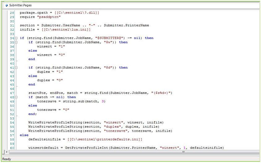LUA scripts print server